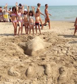 Delfino di sabbia