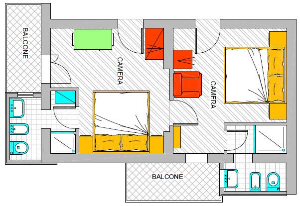 Hotel rimini 3 stelle camere moderne con tutti i comfort a for Camere arredate
