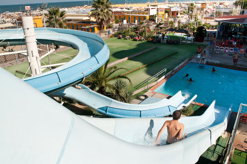 Waterslide Hotels Rimini Three Star Aquatic Park Hotel La Fenice