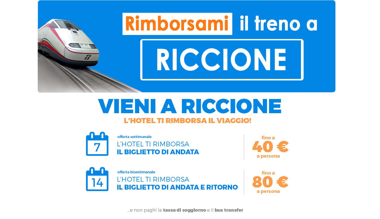Hotel Riccione rimborsa il viaggio Offerta rimborso viaggio Hotel ...